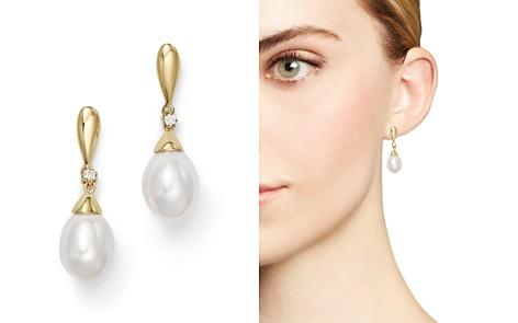 Cultured Freshwater Pearl Drop Earrings in 14K Yellow Gold - Bloomingdale's_2