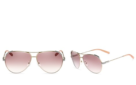 Chloé Nerine Aviator Sunglasses, 60mm - Bloomingdale's_2