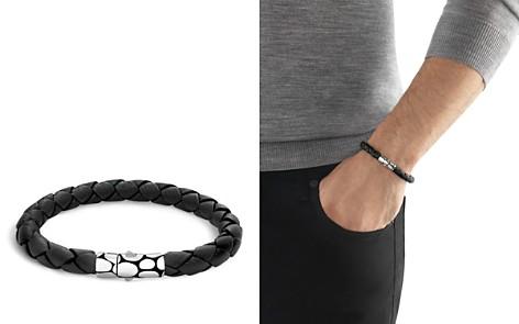 John Hardy Men's Kali Silver Black Woven Leather Bracelet - Bloomingdale's_2