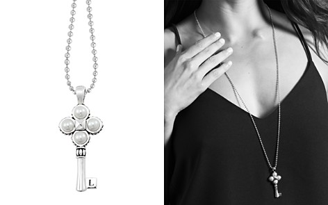 "LAGOS Sterling Silver Pearl Key Pendant Necklace, 34"" - Bloomingdale's_2"