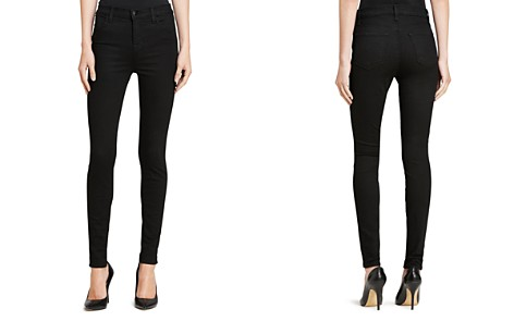 J Brand Maria High Rise Skinny Jeans in Seriously Black - Bloomingdale's_2