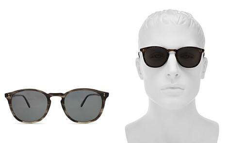 GARRETT LEIGHT Kinney Polarized Round Sunglasses, 49mm - Bloomingdale's_2