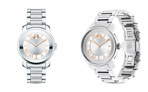 Movado BOLD Mirror Finish Bezel Watch, 32mm - Bloomingdale's_2