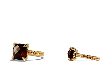 David Yurman Châtelaine Ring with Garnet and Diamonds in 18K Gold - Bloomingdale's_2