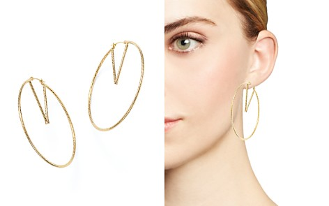 14K Yellow Gold V-Hoop Earrings - 100% Exclusive - Bloomingdale's_2