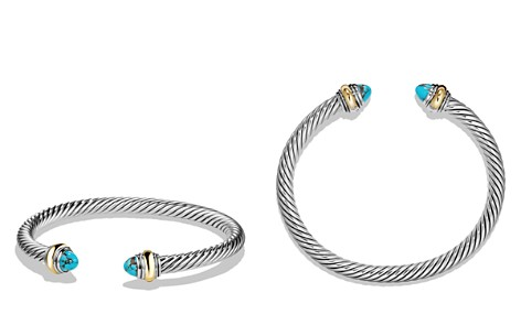 David Yurman Cable Classics Bracelet with Turquoise and 14K Gold - Bloomingdale's_2