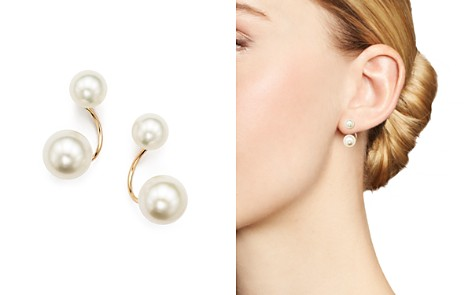 Zoë Chicco 14K Yellow Gold and Cultured Freshwater Pearl Stud Ear Jackets - Bloomingdale's_2
