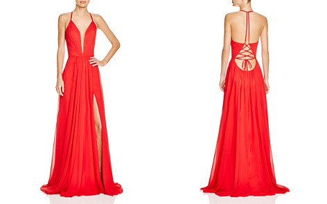 Faviana Couture Illusion Plunge Gown - Bloomingdale's_2