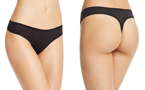 Fine Lines Pure Cotton Thong - Bloomingdale's_2