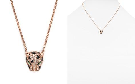 """Diamond and Tsavorite Jaguar Pendant Necklace in 14K Rose Gold, 18"""" - Bloomingdale's_2"""