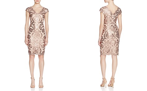 Tadashi Shoji Sequined Lace Dress - Bloomingdale's_2