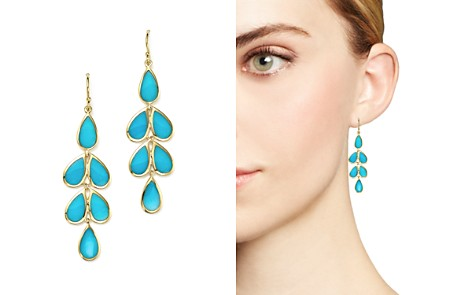 IPPOLITA 18K Yellow Gold Rock Candy® Cascade Teardrop Earrings with Turquoise - Bloomingdale's_2