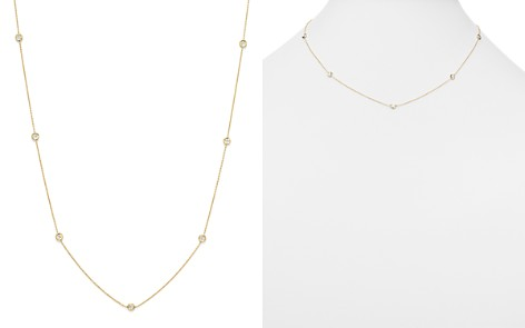 "Roberto Coin 18K Yellow Gold Seven Station Necklace with Diamonds, 18"" - Bloomingdale's_2"