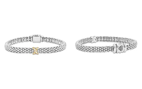 LAGOS 18K Gold and Sterling Silver X Collection Rope Bracelet with Diamonds - Bloomingdale's_2