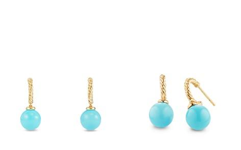 David Yurman Solari Hoop Earrings with Turquoise in 18K Gold - Bloomingdale's_2