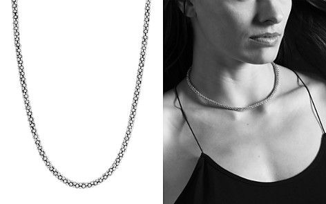 "LAGOS Sterling ""Caviar"" Silver Rope Chain Necklace, 16"" - Bloomingdale's_2"