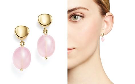 Rose Quartz Nugget Drop Earrings in 14K Yellow Gold - 100% Exclusive - Bloomingdale's_2