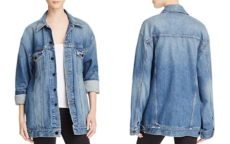 T by Alexander Wang Daze Denim Jacket in Light Indigo Aged - Bloomingdale's_2