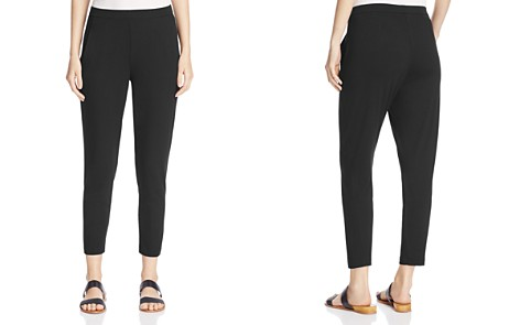 Eileen Fisher Petites System Slim Slouchy Ankle Pants - Bloomingdale's_2