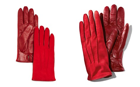 Bloomingdale's Cashmere-Lined Suede Tech Gloves - 100% Exclusive_2