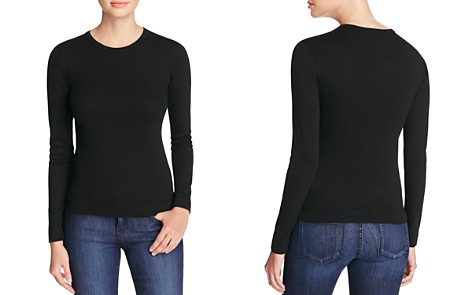 Three Dots Long Sleeve Crewneck Tee - Bloomingdale's_2