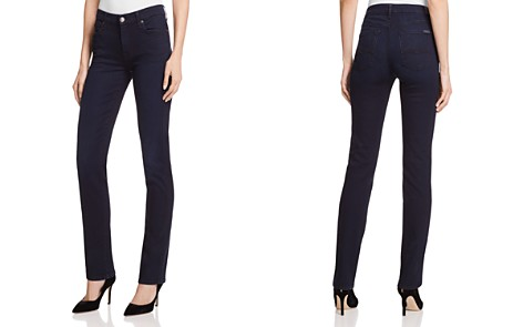7 For All Mankind b(air) Kimmie Straight Jeans in Blue Black River Thames - Bloomingdale's_2