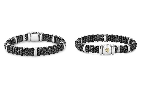 LAGOS Black Caviar Ceramic and Sterling Silver Station Bracelets - Bloomingdale's_2