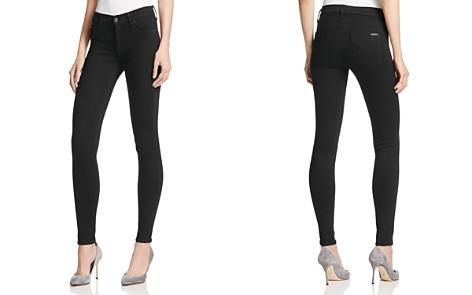 Hudson Mid Rise Super Skinny Jeans in Black - Bloomingdale's_2