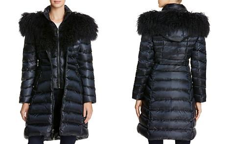 Dawn Levy Camille Mongolian Fur Trim Down Coat - Bloomingdale's_2