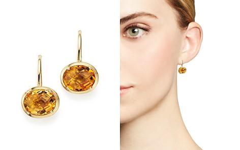 Citrine Oval Drop Earrings in 14K Yellow Gold - 100% Exclusive - Bloomingdale's_2