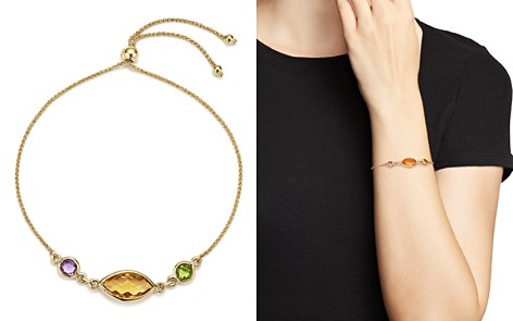 Multicolored Gemstone Chain Bracelet in 14K Yellow Gold - 100% Exclusive - Bloomingdale's_2
