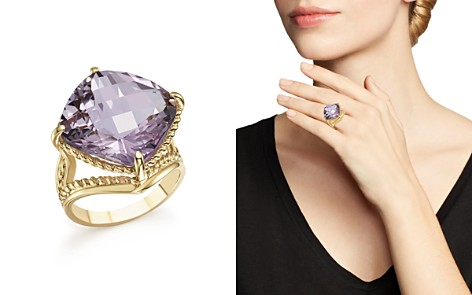 Rose Amethyst Statement Ring in 14K Yellow Gold - 100% Exclusive - Bloomingdale's_2