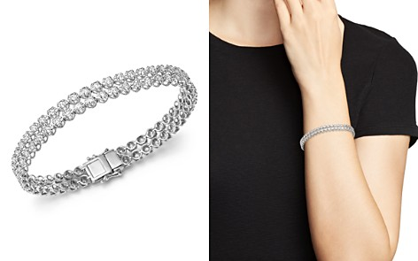 Diamond Two Row Tennis Bracelet in 14K White Gold, 4.0 ct. t.w - 100% Exclusive - Bloomingdale's_2