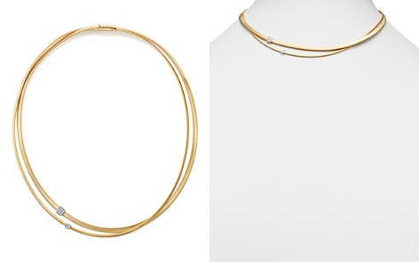 """Marco Bicego 18K Yellow Gold Masai Two Strand Diamond Necklace, 17"""" - Bloomingdale's_2"""