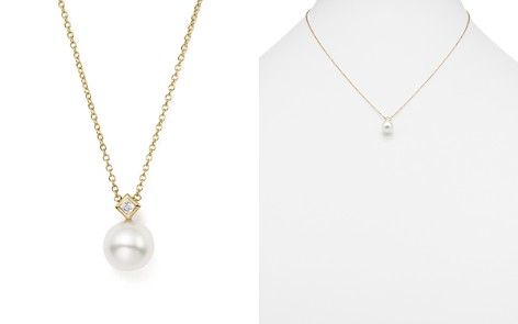 "Zoë Chicco 14K Yellow Gold Freshwater Cultured Pearl Pendant Necklace with Diamond, 16"" - Bloomingdale's_2"