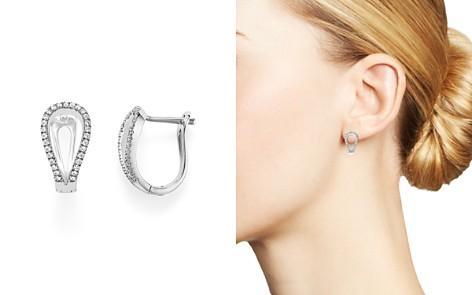 Diamond Horseshoe Earrings in 14K White Gold, .50 ct. t.w. - Bloomingdale's_2