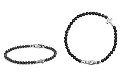 David Yurman Spiritual Beads Cross Bracelet with Black Onyx in Sterling Silver - Bloomingdale's_2