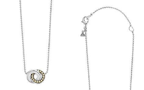 "LAGOS 18K Gold and Sterling Silver Enso Interlocking Circle Pendant Necklace, 16"" - Bloomingdale's_2"