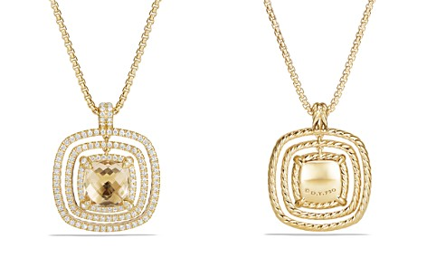 David Yurman Châtelaine Pavé Bezel Enhancer with Champagne Citrine and Diamonds in 18K Gold - Bloomingdale's_2