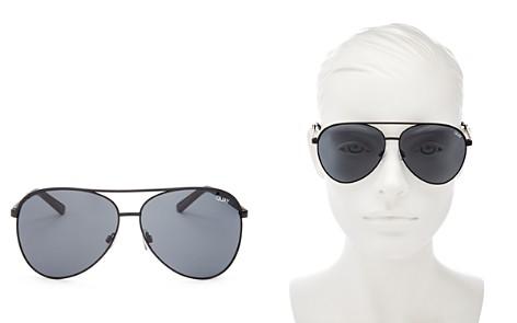 Quay Women's Vivienne Brow Bar Aviator Sunglasses, 65mm - Bloomingdale's_2