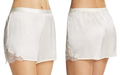 GINIA Lace-Trim Silk Boxers - Bloomingdale's_2