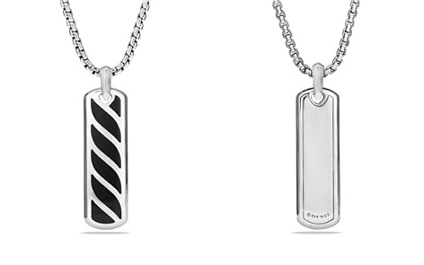 David Yurman Graphic Cable Ingot Tag with Black Onyx - Bloomingdale's_2