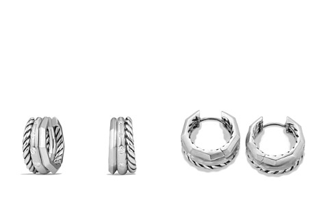 David Yurman Stax Huggie Hoop Earrings with Diamonds - Bloomingdale's_2