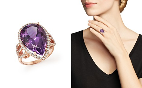 Amethyst and Diamond Statement Ring in 14K Rose Gold - 100% Exclusive - Bloomingdale's_2