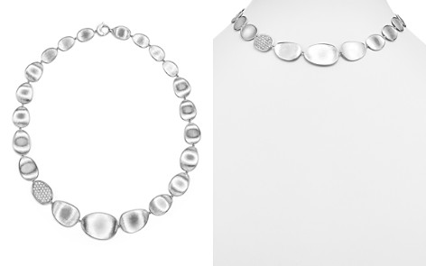 """Marco Bicego 18K White Gold Lunaria Diamond Collar Necklace, 16.5"""" - Bloomingdale's_2"""