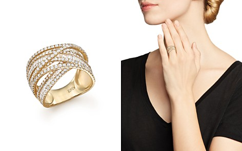 Diamond Baguette and Round Statement Ring in 14K Yellow Gold, 2.70 ct. t.w. - 100% Exclusive - Bloomingdale's_2