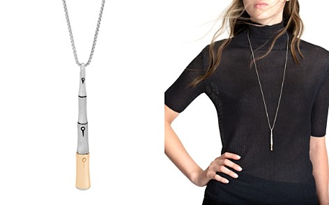"""John Hardy 18K Yellow Gold and Sterling Silver Bamboo Brushed Pendant Necklace, 32"""" - Bloomingdale's_2"""