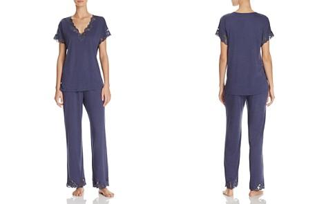Natori Zen Floral Lace-Trim Short Sleeve Pajama Set - Bloomingdale's_2