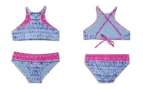 Gossip Girl Girls' Printed High Neck 2-Piece Swimsuit - Big Kid - Bloomingdale's_2