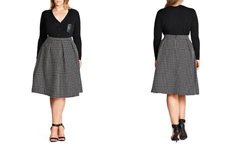 City Chic Polka Dot Skirt - Bloomingdale's_2